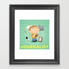 Journalist Framed Art Print