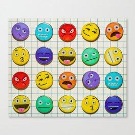 Mixed emojions Canvas Print