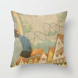 you delayed a catastrophe Throw Pillow