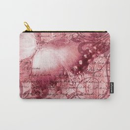 LE PAPILLON | raspberry Carry-All Pouch