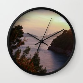 Sunset on the Gulf of Poets Wall Clock