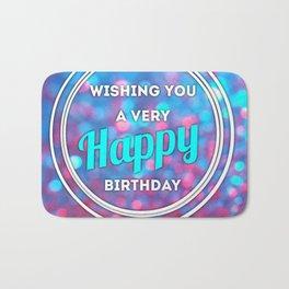 Happy Birthday Bath Mat