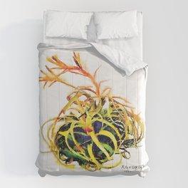 Tillandsia Xerographica Air Plant Watercolor Comforters