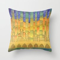 israel Throw Pillows featuring Israel by Eugene Frost