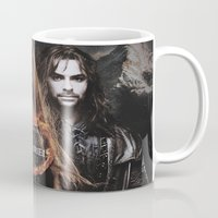 legolas Mugs featuring kili,legolas,tauriel,the hobbit,lord of the rings by ira gora