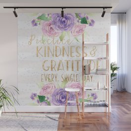 Kindness & Gratitude Wall Mural