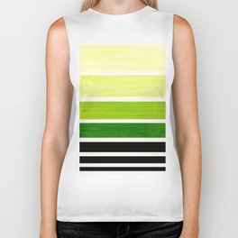 Sap Green Minimalist Mid Century Modern Color Fields Ombre Watercolor Staggered Squares Biker Tank