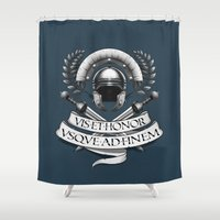 gladiator Shower Curtains featuring Centurion T by pakowacz