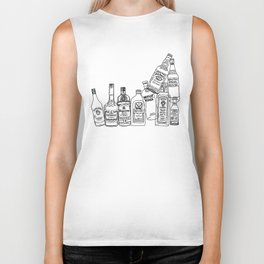 Alcohol Bottles (White) Biker Tank