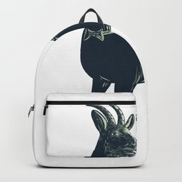 The Goat Wearing Bow Tie Scratchboard Backpack