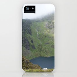 Wales Landscape 21 Cader Idris Mountain Lake iPhone Case