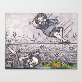 Elbow drop Canvas Print