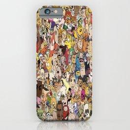 Cartoon Collage iPhone Case