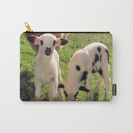 Ewe and Twin Spring Lambs Carry-All Pouch