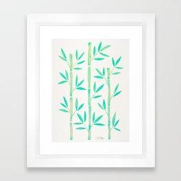 Bamboo Stems – Mint Palette Framed Art Print