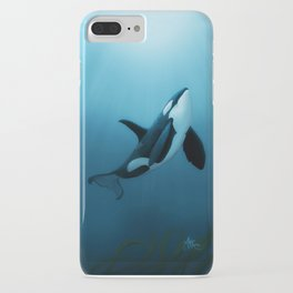 """""""The Dreamer"""" by Amber Marine ~ Orca / Killer Whale Art, (Copyright 2015) iPhone Case"""