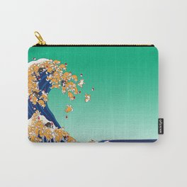Christmas Shiba Inu The Great Wave Carry-All Pouch
