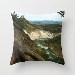Yellowstone River View Throw Pillow