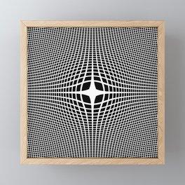White On Black Convex Framed Mini Art Print