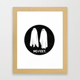 No Feet Ghosts Black and White Graphic Framed Art Print