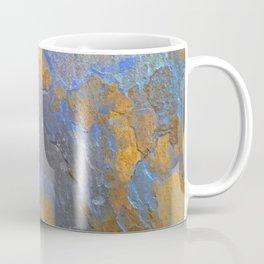 Blue and Orange Marble Pattern Coffee Mug