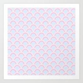 Pearly Glow Pastel Art Print