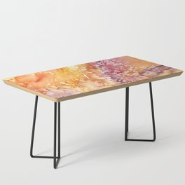 Apricot Rose Abstract Design Coffee Table