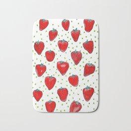 Strawberries Celebration Bath Mat
