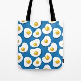 Fried eggs food pattern Tote Bag