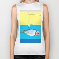 fishing Biker Tanks featuring Fishing by ilkai