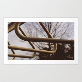 Monkey bars  Art Print