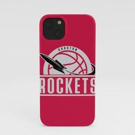 Rockets custom vintage basketball red logo iPhone Case