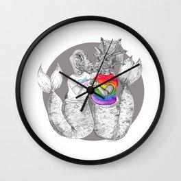 Pride BFF's #mermasaur Wall Clock