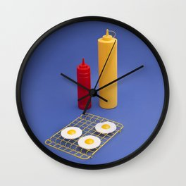 Egg BBQ Wall Clock