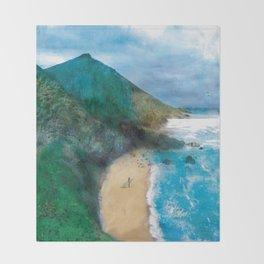 Wild Beach Throw Blanket