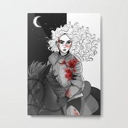 Lady Knight Metal Print