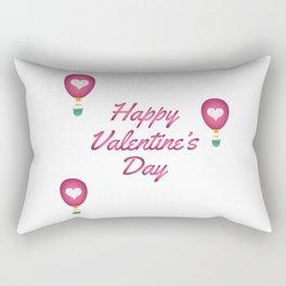 Happy Valentine's Day Love Heart Balloons Rectangular Pillow