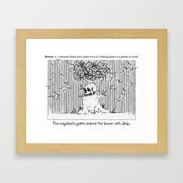 Doodler's Dictionary - Bower Framed Art Print