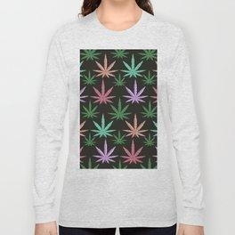 Marijuana Muted Colors Long Sleeve T-shirt