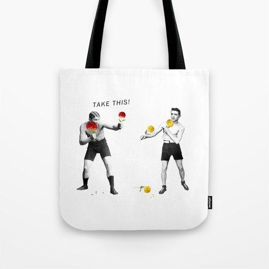 Floral fight - humor Tote Bag