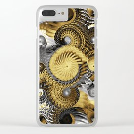 Golden and Silver Twisters Clear iPhone Case