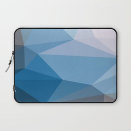 Shades Of Blue Triangle Abstract Laptop Sleeve