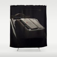 book Shower Curtains featuring Book by F130284