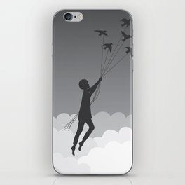 Boy and birds iPhone Skin