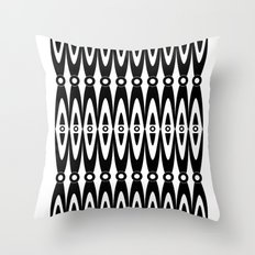 Black pattern Throw Pillow