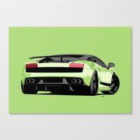 lamborghini Canvas Prints featuring LAMBORGHINI GALLARDO by MATT WARING