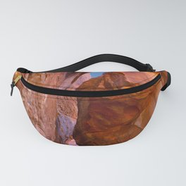 Rocks at sunset Fanny Pack