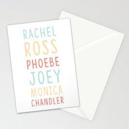 Friends TV Show Character Names Stationery Cards