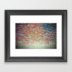 Bricks & Mortar Framed Art Print
