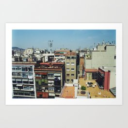 Roofs of Barcelona Art Print